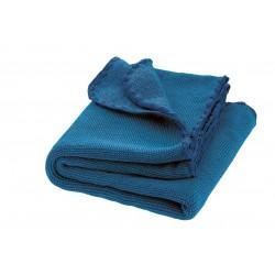 DISANA babytæppe økologisk uld marine/blå melange-20