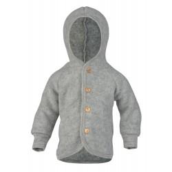 Engel jakke med hætte i økologisk uldfleece-20