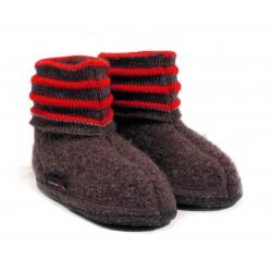 Haflinger indesko Linea uld brun melange-20