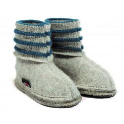 Haflinger indesko Linea uld grå melange-20