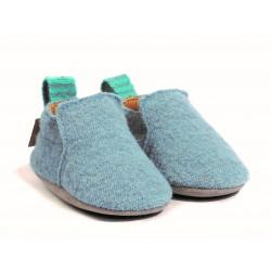 Haflinger indesko hafli uld naturgummisål blå-20