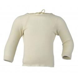 Engel baby slå-om bluse uld and silke natur-20