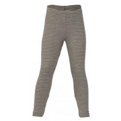 Engel leggings uld and silke valnød/natur stribet-20