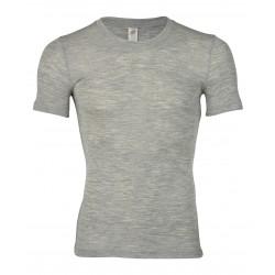 Engel herre kortærmet t-shirt uld and silke grå-20