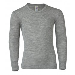 Engel langærmet bluse uld and silke grå-20