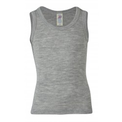 Engel økologisk uld and silke undertrøje grå-20