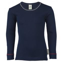 Engel langærmet t-shirt økologisk bomuld indigo-20