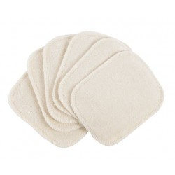 Popolini 6 små vaskeklude natur-20