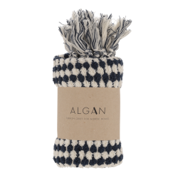 Algan Ahududu gæstehåndklæde 45x100 cm. marine-20