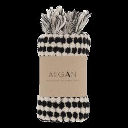 Algan Ahududu gæstehåndklæde 45x100 cm. sort-20