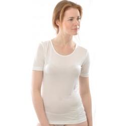 49be8d01c7ed Alkena kortærmet t-shirt rund hals økologisk silke hvid-20