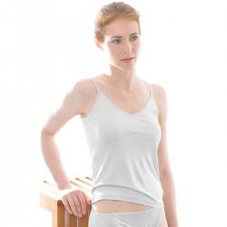 Alkena top økologisk silke hvid-20
