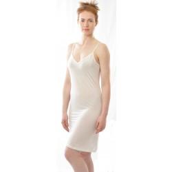 Alkena underkjole/natkjole økologisk silke hvid-20