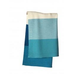 DISANA babytæppe økologisk uld lagoon/blå stribet-20