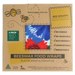 Bee Wrappy genanvendelige wraps 4-pak-20