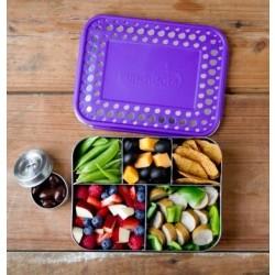 LunchBots Bento CINCO purple dots ekstra stor madkasse-20