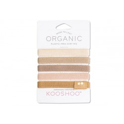 Kooshoo økologiske hårelastikker 5 stk. blond-20