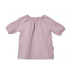Cotonea bluse med 3/4 ærme baby muslin støvet rosa-20
