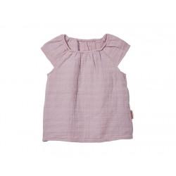 Cotonea top med lille ærme større børn muslin støvet rosa-20