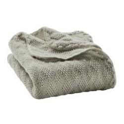 DISANA babytæppe økologisk uld grå-20