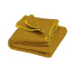 DISANA babytæppe økologisk uld curry/gold melange-20