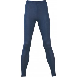 Engel dame leggings uld and silke marineblå-20