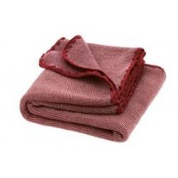 DISANA babytæppe økologisk uld bordeaux/rosé melange-20