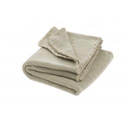 DISANA babytæppe økologisk uld grå/natur melange-20