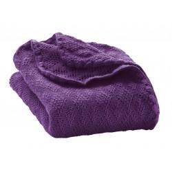 DISANA babytæppe økologisk uld lilla-20