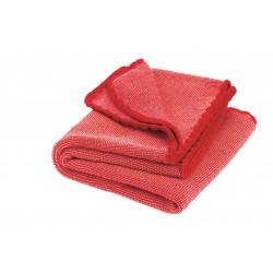 DISANA babytæppe økologisk uld red/rosé melange-20