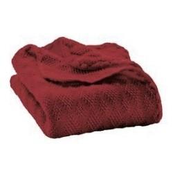 DISANA babytæppe økologisk uld bordeaux-20