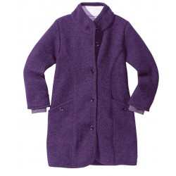 DISANA | lang uldjakke | kogt uld | lilla-20