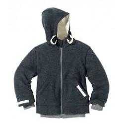 DISANA helårsjakke i uld antracit fåes helt op til str. 152-20