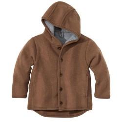 DISANA | uldjakke | kogt uld |hasselnød/brun melange-20