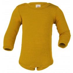 Engel | langærmet body | uld and silke |safran-20
