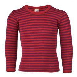 Engel langærmet bluse uld and silke rød/lilla-20