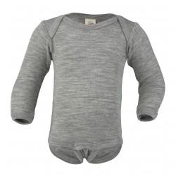 Engel langærmet body uld and silke grå-20