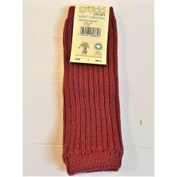 Grödo benvarmere børn økologisk uld 25 cm. bordeaux-20
