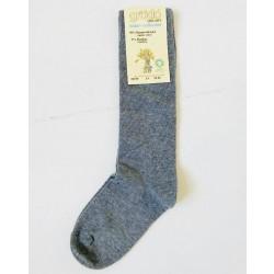 Grödo|knæ strømpe |økologisk bomuld|grå-20