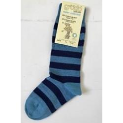 Grödo|knæ strømpe|uld and bomuld|blåstribet-20