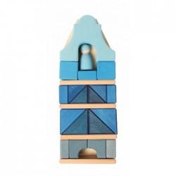 Grimms højt hus med blå figur 29 cm.-20