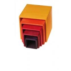 Grimms stabelkasser gul/orange/rød 5 dele-20