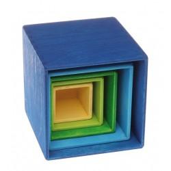 Grimms stabelkasser 5 dele blå-20