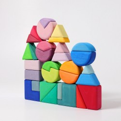 Grimms triangel sqare 30 geometriske byggeklodser-20