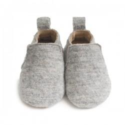 Haflinger indesko hafli uld naturgummisål grå-20