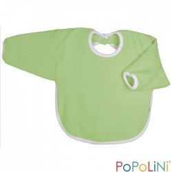 Popolini hagesmæk forklæde med ærmer æblegrøn-20