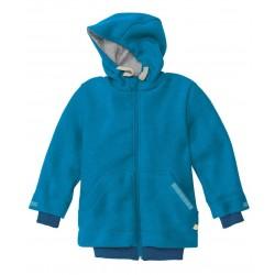 DISANA helårsjakke i uld blå fåes helt op til str. 152-20