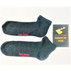 Hirsch tynde ankelsokker uld antracit-20