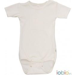 Iobio kortærmet body uld and silke GOTS natur-20