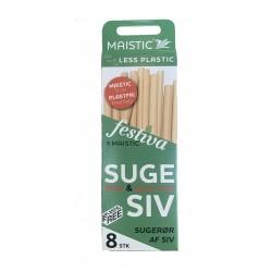 Maistic Bio Group sugerør siv 8 stk.-20